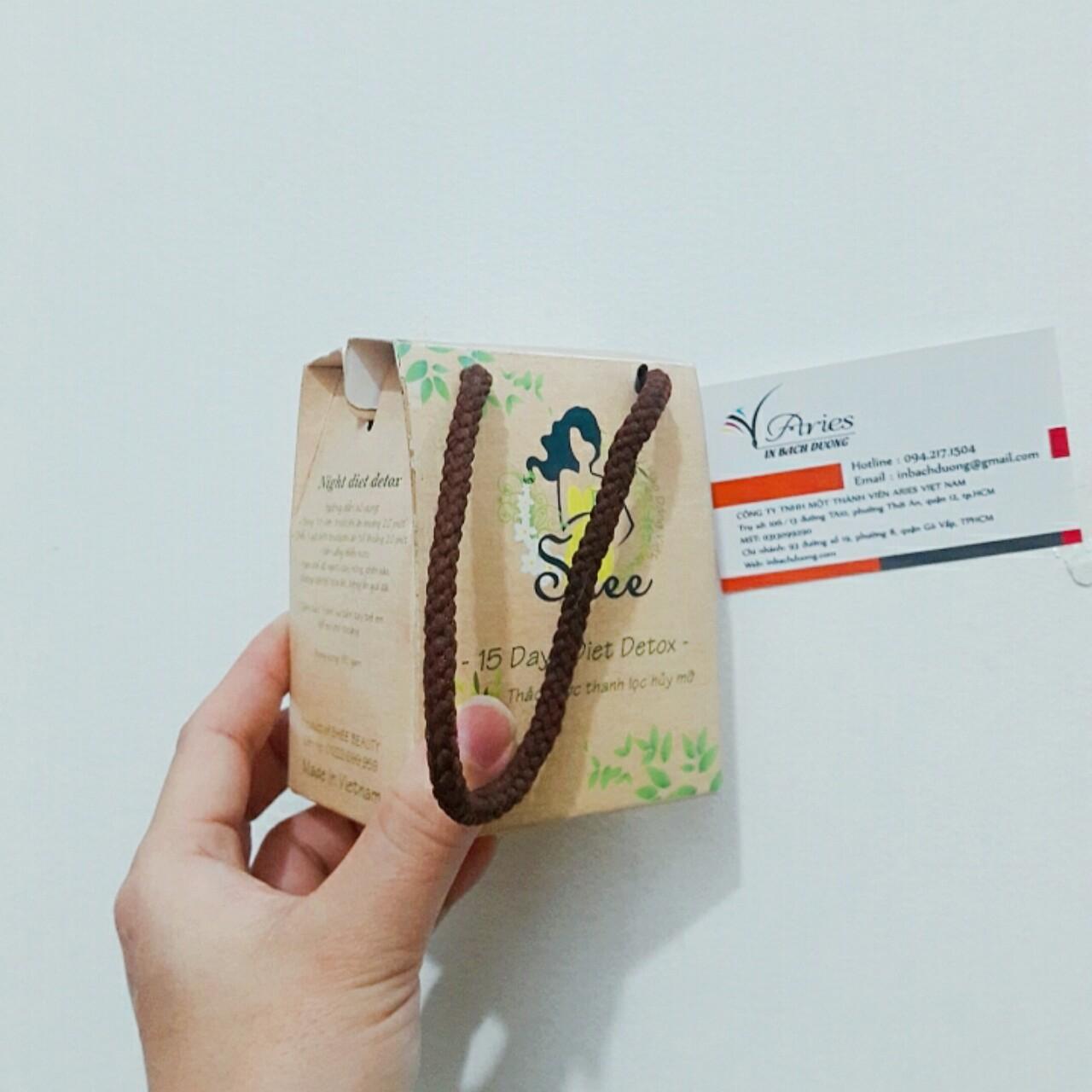 Túi giấy dạng hộp 8x6x10cm