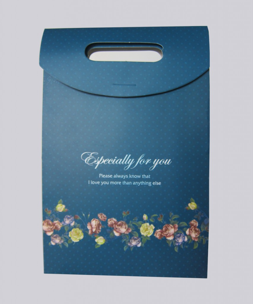 Túi giấy nắp gài 14x21x4