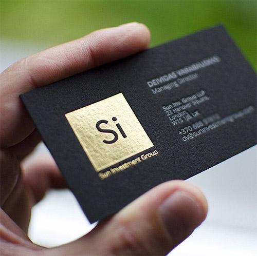 Namecard ép kim logo