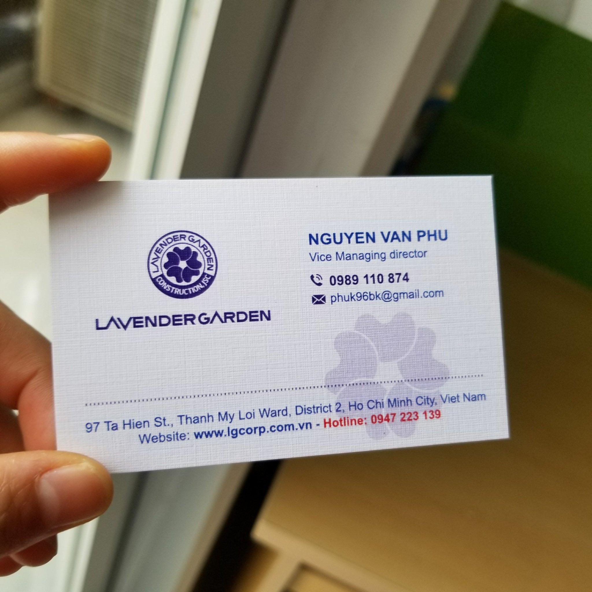 Namecard giấy Mỹ thuật